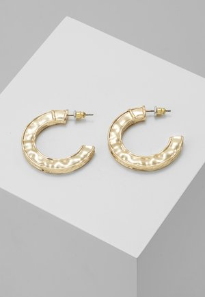 CHUNKY ENGRAVED HOOPS - Earrings - gold-coloured