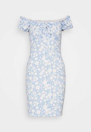 FRILL TIE DRESS - Shift dress - light blue