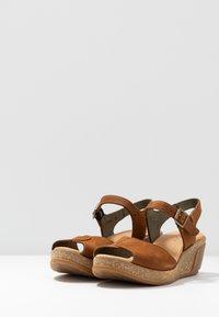 El Naturalista - LEAVES - Platform sandals - wood - 4