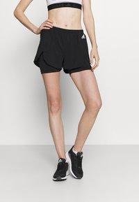 adidas Performance - Pantalón corto de deporte - black/white - 0