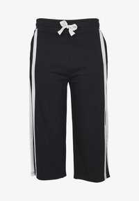 Urban Classics - LADIES TAPED TERRY CULOTTE - Tracksuit bottoms - black/white - 3