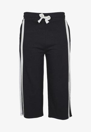 LADIES TAPED TERRY CULOTTE - Pantalon de survêtement - black/white