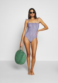 aerie - ONE PIECE CHEEKY STRAIGHT NECK SPACE DYE - Badedrakt - navy - 1