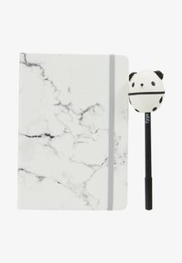 TYPO - JOURNAL NOVELTY JOURNAL SLOTH PEN SET - Jiné - marble with grey elastic - 1