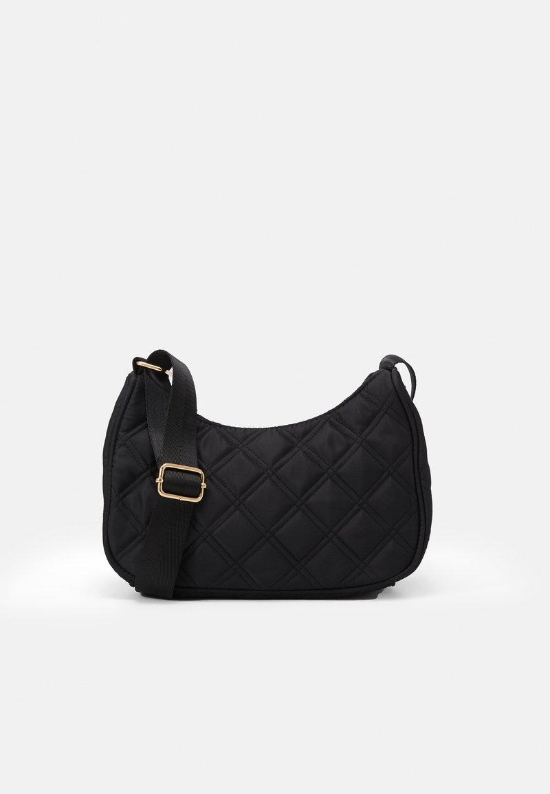Lindex - BAG BAGUETTE QUILTED - Handbag - black