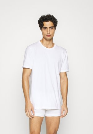 S/S CREW NECK 2PK COTTON STRETCH - Undershirt - white