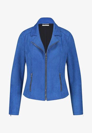 Faux leather jacket - aurora blue