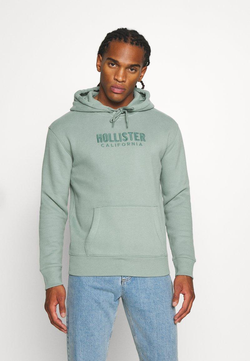 Hollister Co. - TECH LOGO TONAL - Jersey con capucha - green