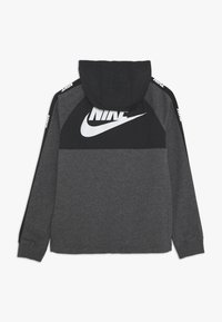 Nike Sportswear - HYBRID  - Hoodie - black/charcoal heathr/white - 1