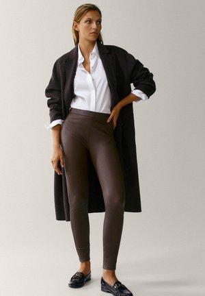 Leggings - Trousers - brown