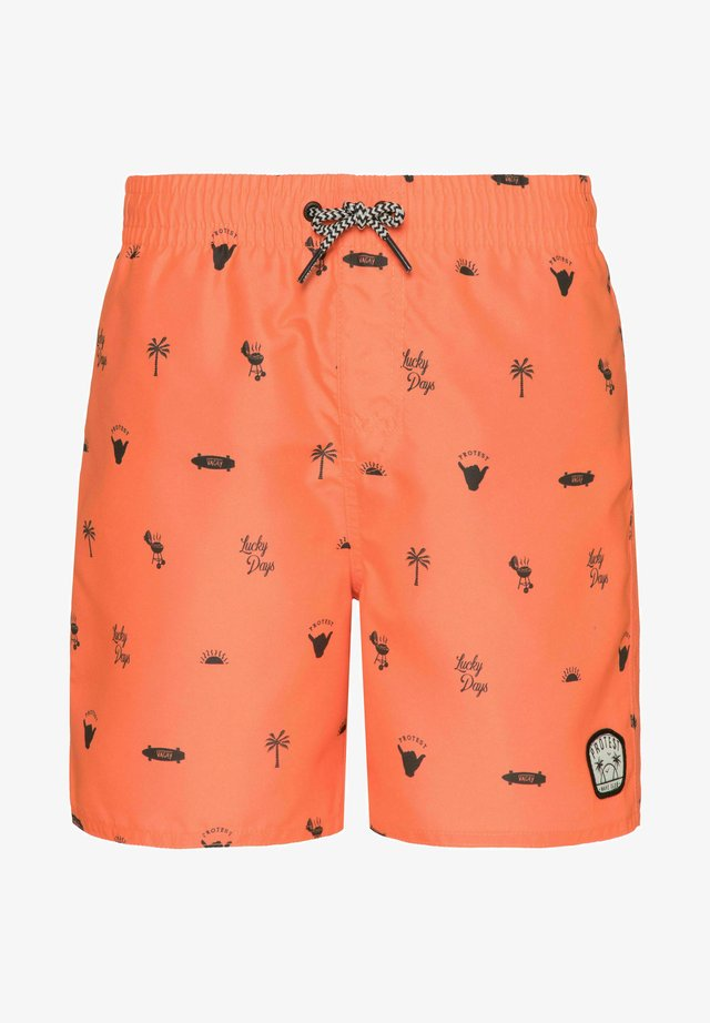 JORN JR  - Shorts da mare - orange fun
