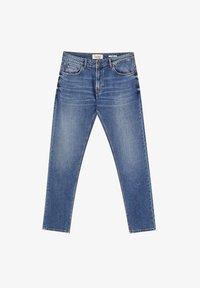 PULL&BEAR - Džíny Slim Fit - mottled dark blue - 4
