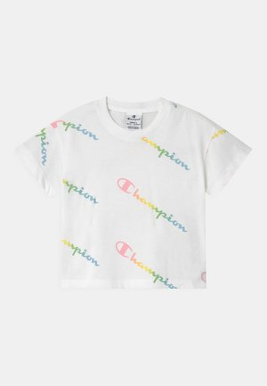 COLOR LOGO CREWNECK - Print T-shirt - white