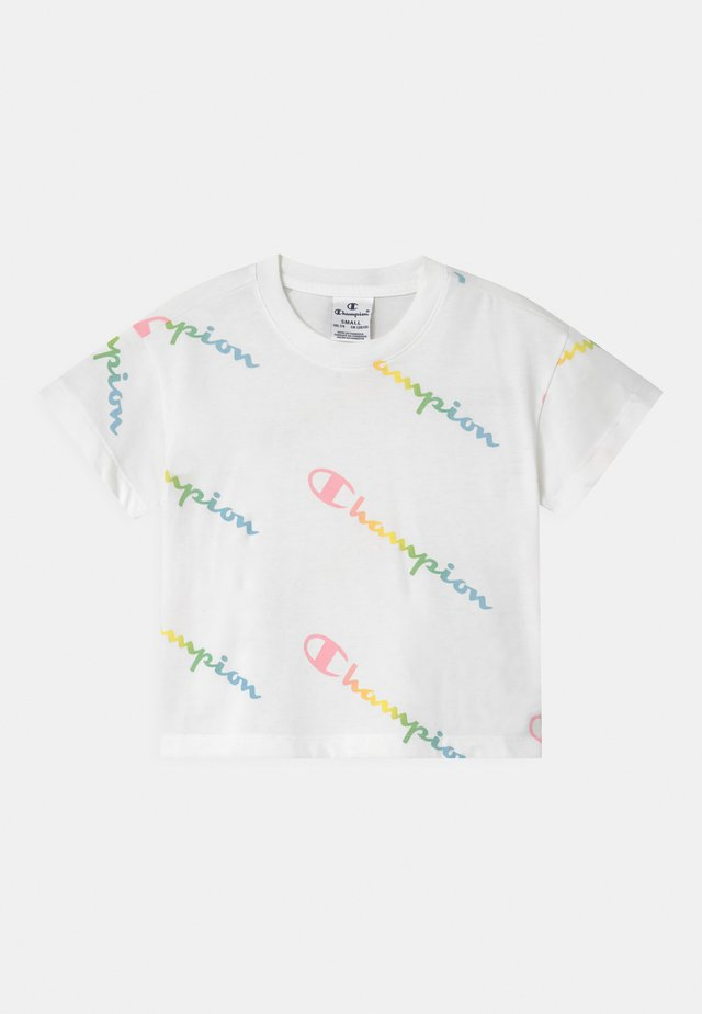 COLOR LOGO CREWNECK - T-shirt imprimé - white