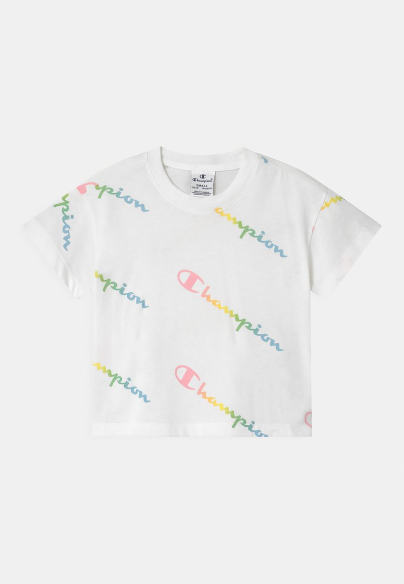 Champion - COLOR LOGO CREWNECK - Camiseta estampada - white
