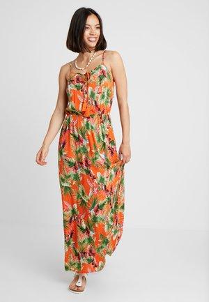 TROPIC TIE DRESS - Maxi dress - orange