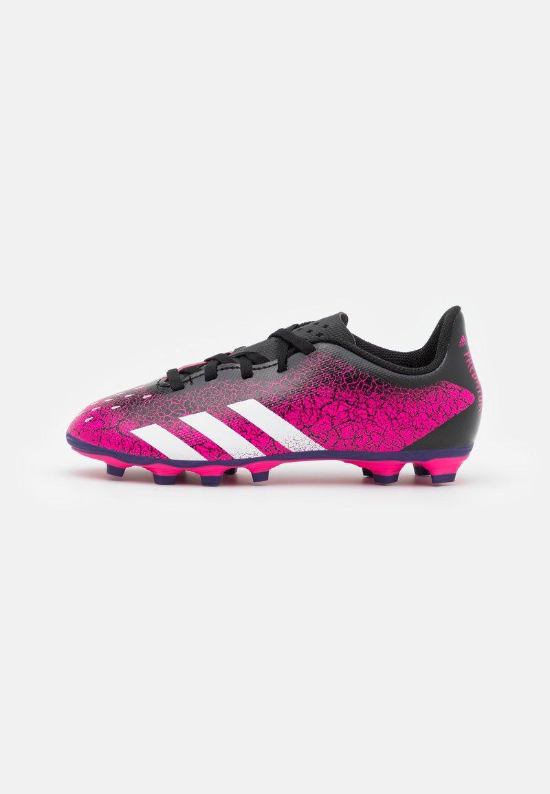 adidas Performance - PREDATOR FREAK .4 FXG UNISEX - Moulded stud football boots - shock pink/footwear white/core black