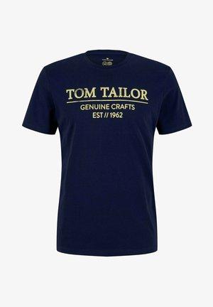 Print T-shirt - azur blue denim