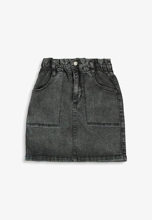 Denim skirt - grey dark washed