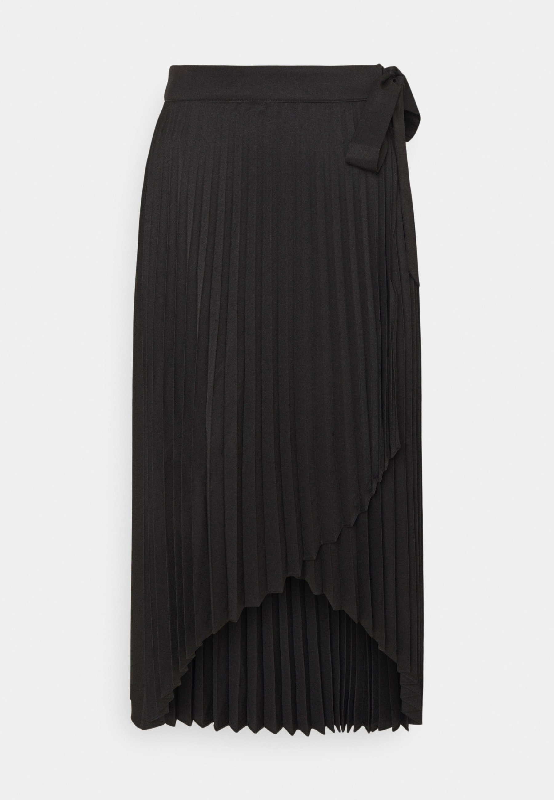 Women WRAP PLEATED MIDI SKIRT - A-line skirt