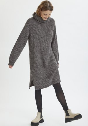 Jumper dress - grey iron melange