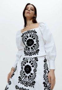 Uterqüe - Blouse - white, black - 2