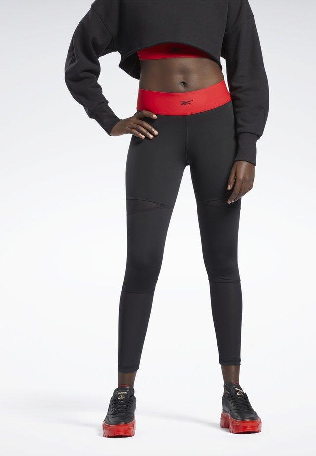 CARDI 7/8 COLLAB CASUAL LEGGINGS - Leggings - black