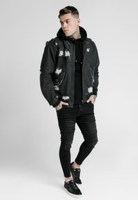 SIKSILK - DISTRESSED JACKET - Giacca di jeans - washed black - 1
