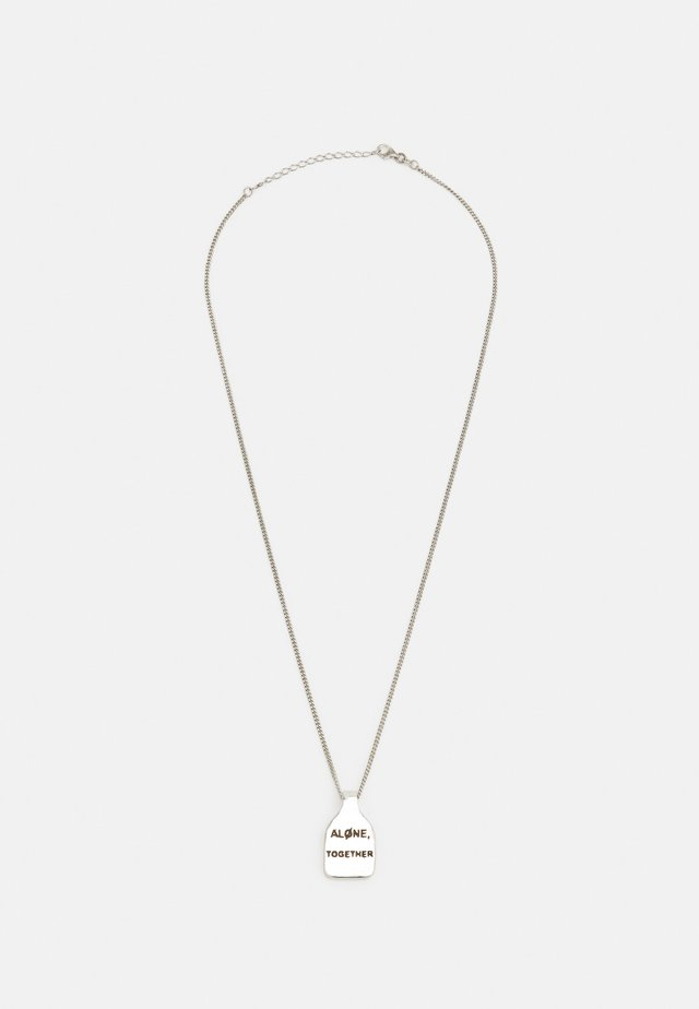 ALONE TOGETHER UNISEX - Ketting - silver-coloured