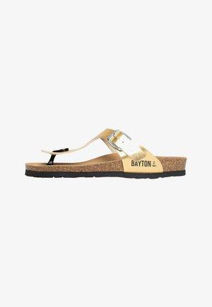 CAIRNS  - T-bar sandals - gold