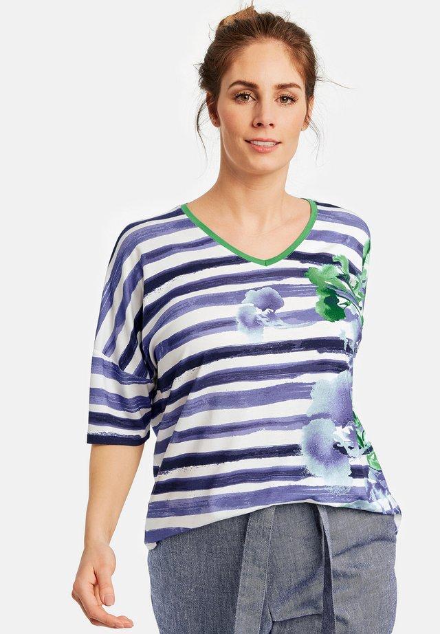 MIT MUSTERMIX - Print T-shirt - peacock blue gemustert