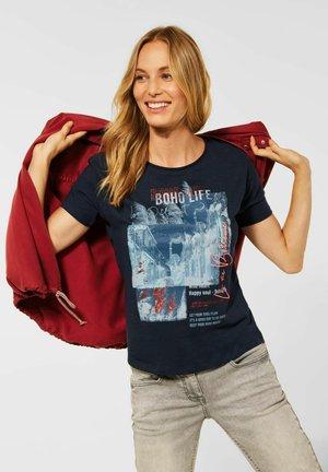 MIT PARTPRINT - Print T-shirt - blau