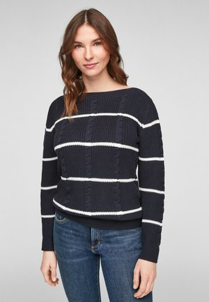 MIT STREIFENMUSTER - Jumper - dark blue stripes