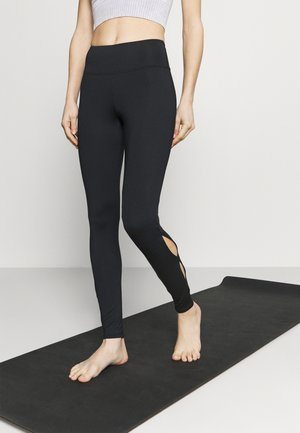 KEY HOLE LEGGINGS - Punčochy - black