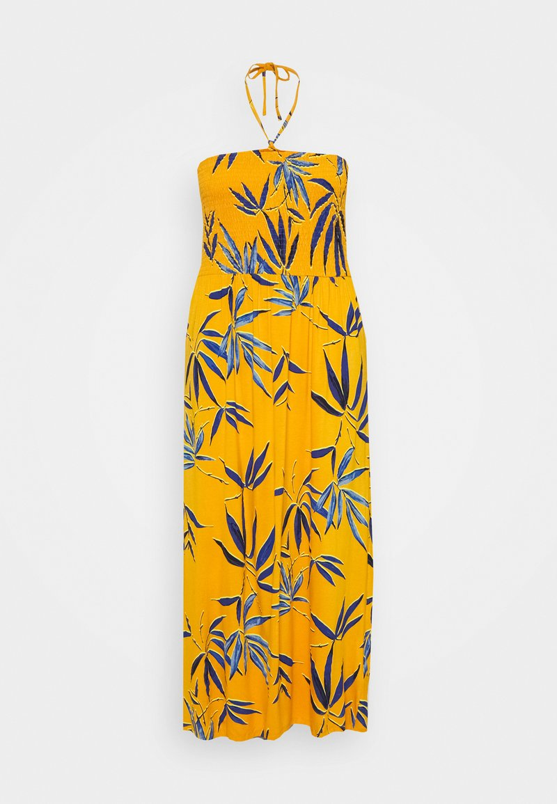 CAPSULE by Simply Be - SOLID SHIRRED DRESS - Robe en jersey - yellow
