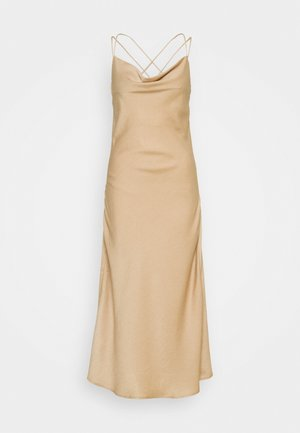 VMCENTURY OPEN BACK DRESS - Vestido de fiesta - gilded beige