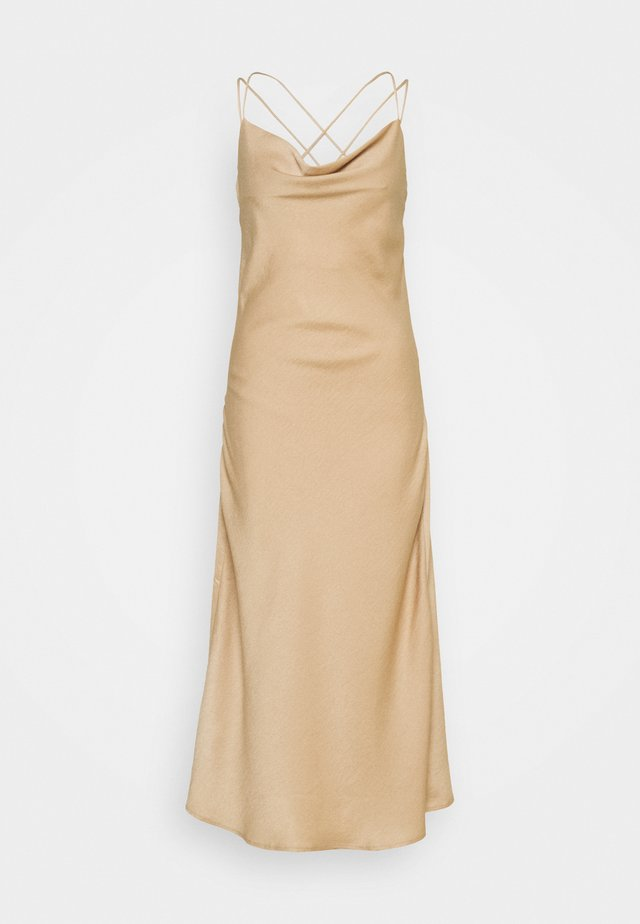 VMCENTURY OPEN BACK DRESS - Gallakjole - gilded beige