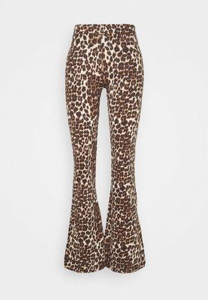 ONLLIVE LOVE FLARED PANTS - Leggings - black