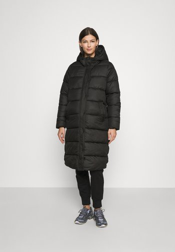 OLMCAMMIE LONG QUILTED COAT - Winter coat - black
