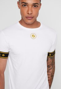 Gianni Kavanagh - GOLDEN CIRCLE TEE - Basic T-shirt - white - 4