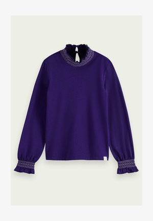 SMOCKED - Long sleeved top - midnight purple