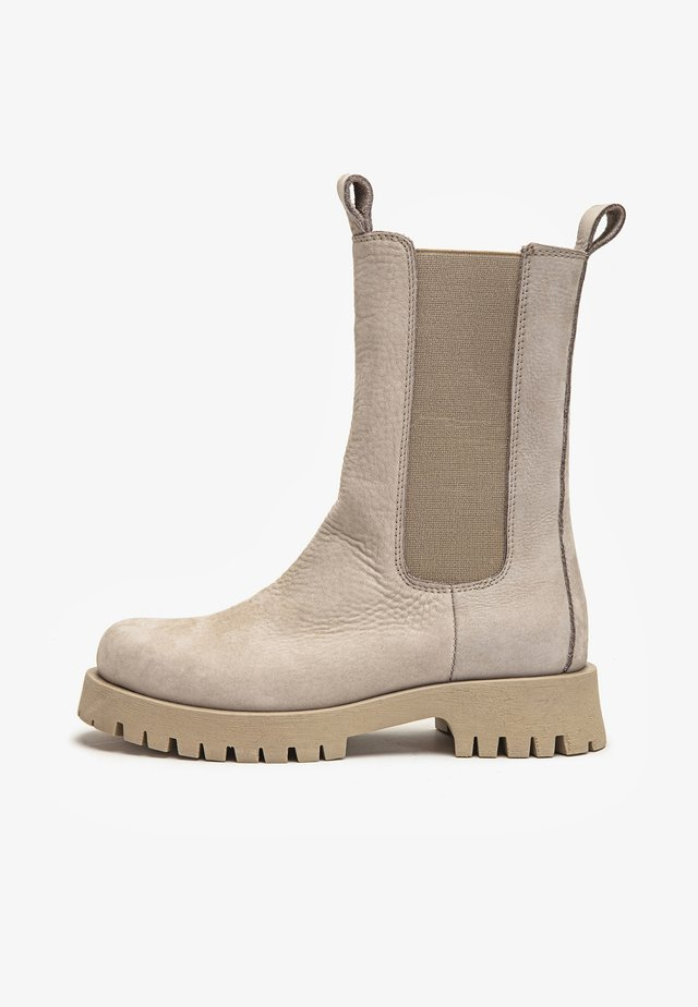 Platform ankle boots - nb silver grey