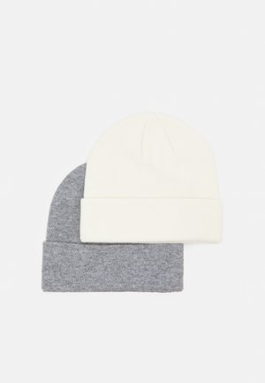 2 PACK UNISEX - Beanie - grey/white