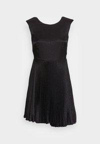 LONDON PLEATED DRESS - Juhlamekko - black