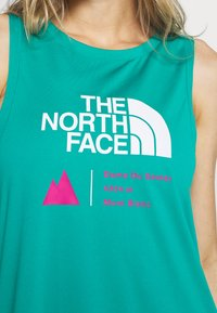 The North Face - WOMENS GLACIER TANK - Sports shirt - jaiden green - 5