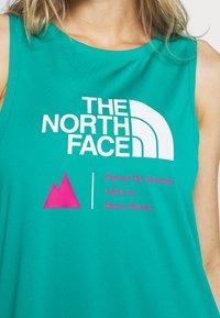 The North Face - WOMENS GLACIER TANK - Sportshirt - jaiden green - 5