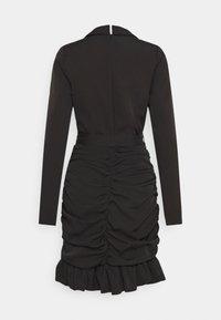 Missguided Tall - RUCHED FRILL BLAZER DRESS - Kjole - black - 1