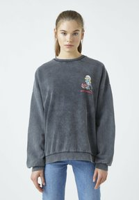 PULL&BEAR - Sweatshirts - mottled dark grey - 2