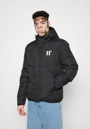 LARGED PANELLED BLOCK PUFFER JACKET - Winter jacket - black