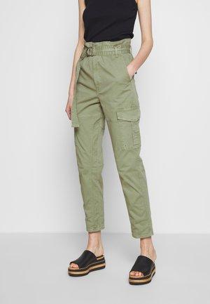 SAFARI WIDE LEG TROUSER - Spodnie materiałowe - waod